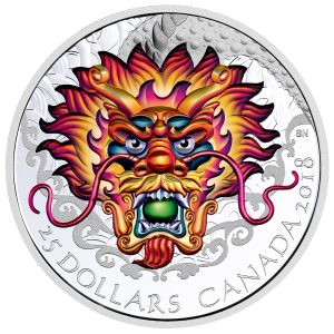 2018 $25 Dragon Boat - Pure Silver Coin