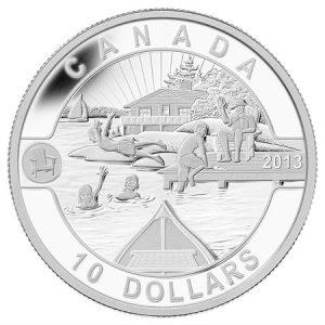 $10 - 2013 O Canada - Canadian Summer Fun .9999 Fine Silver.