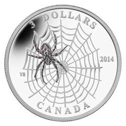 $3 - 2014 Spider Web .9999 Fine Silver .9999 Fine Silver.