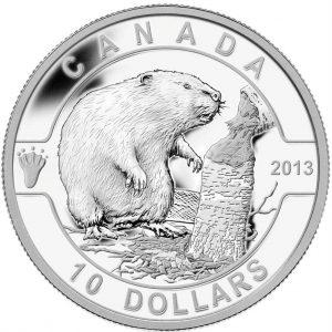 $10 - 2013 O Canada - Beaver .9999 Fine Silver.