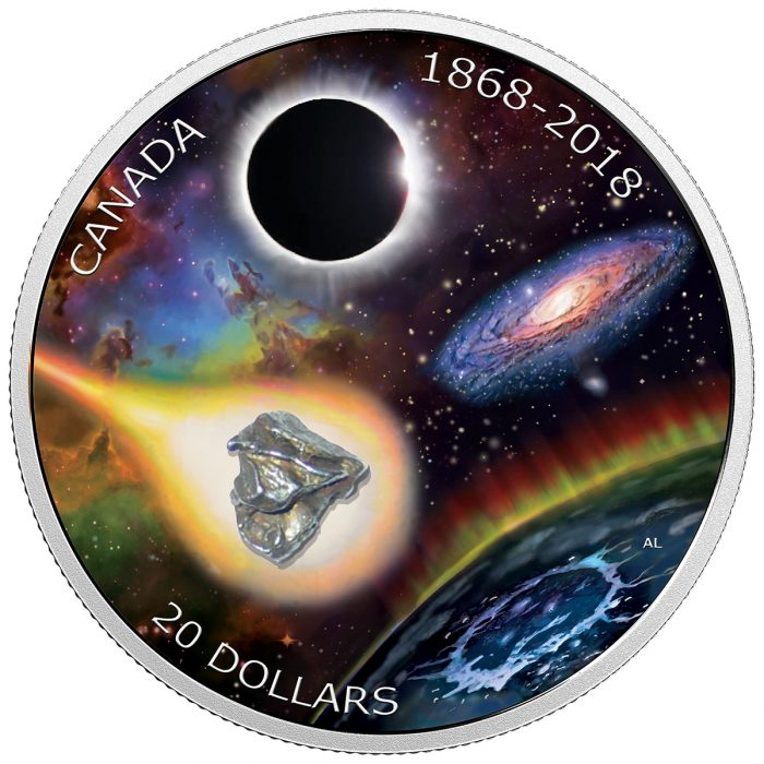 2018 $20 150th Anniversary of the Royal Astronomical Society of Canada - Pure Silver Coin